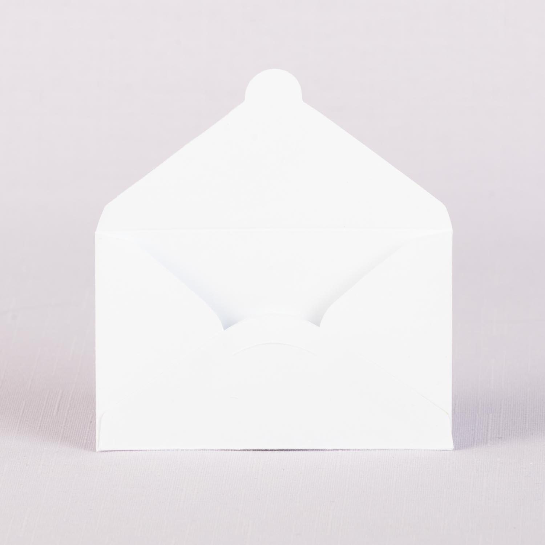 Конверт для визитной карточки белый с замком