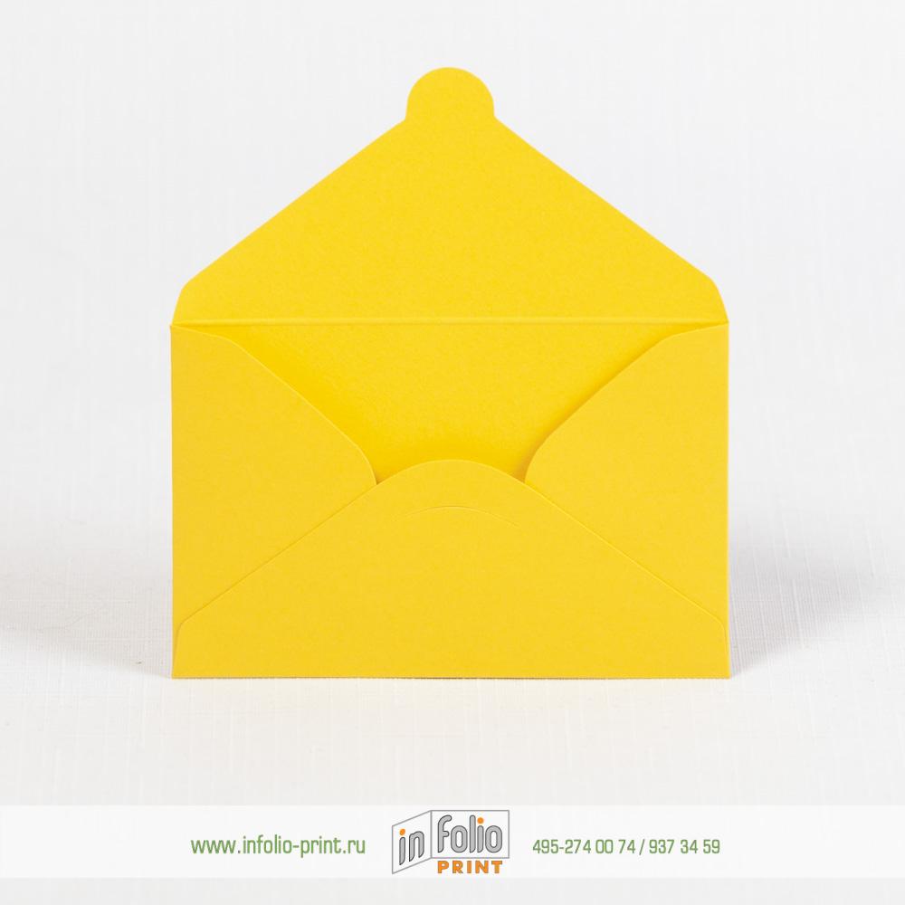 Конверты из желтой бумаги