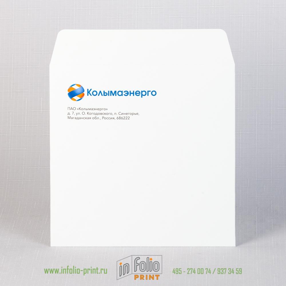 Корпоративный квадартный конверт 15х15