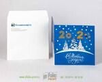 Новогодняя открытка в квадратном конверте