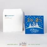 Квадратный конверт с открыткой 15х15