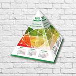 Календарь-домик треугольный