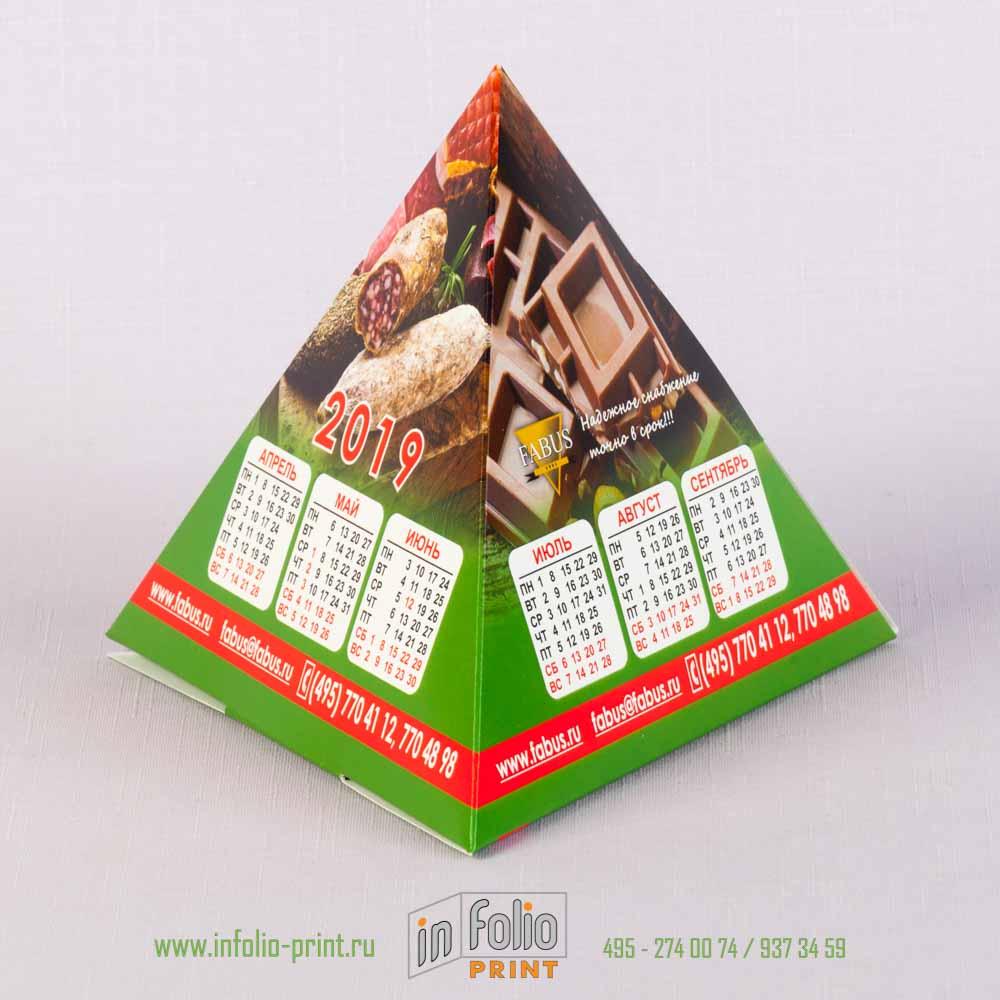 календарь-пирамидка 16х16х16