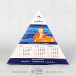 Календарь пирамидка из одностороннего картона самосборная