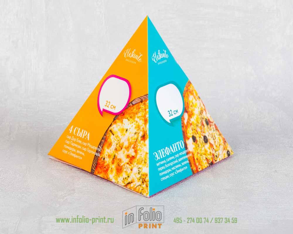 тейблтент в форме пирамидки для пицерии