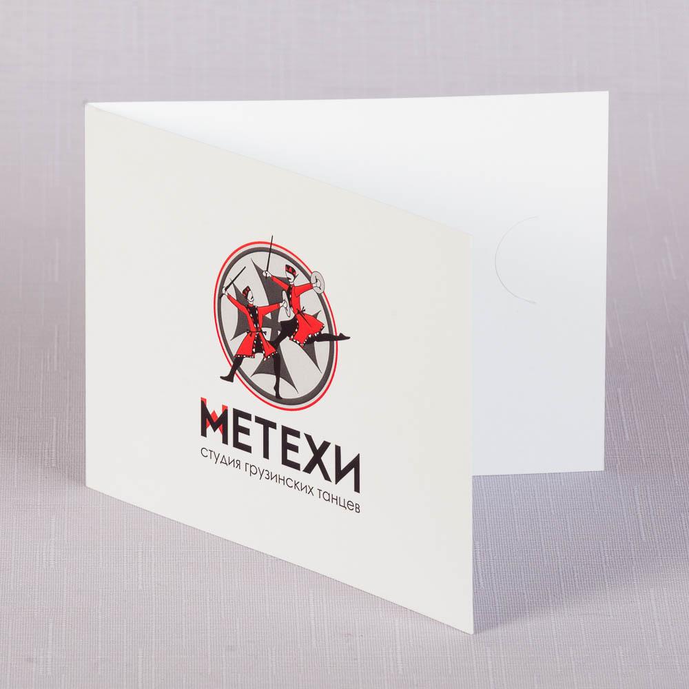 Упаковка под пластиковую карту с прорезями для вставки