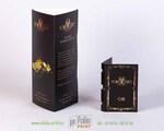 рекламная подставка для парфюмерии с тиснением золотом