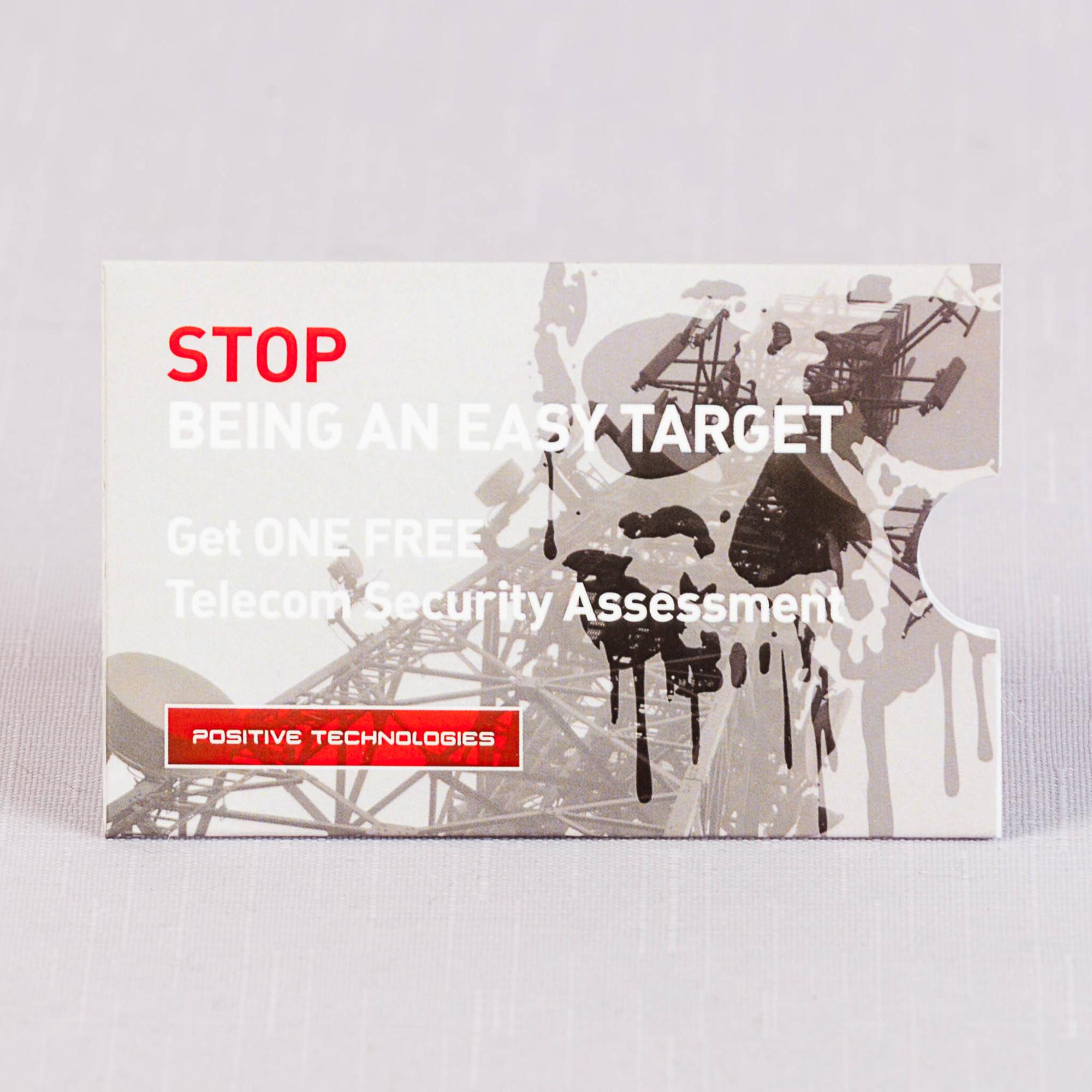 Конверт под пластиковую карту с матовой ламинацией