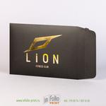Черный картонный конверт С5 с золотым тиснением
