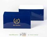 Глянцевый ламинированный евроконверт синего цвета
