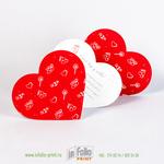 Открытка-валентинка для подарка коллегам