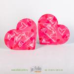 Открытка валенатинка розовой сердце для рекламной компании