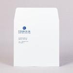 Конверт из офсетной бумаги 160 г и печатью в одну краску 17х17