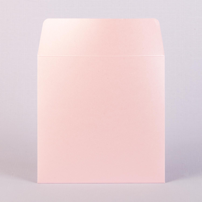 Конверт из розового металлика 17х17