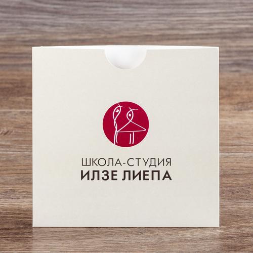 Квадратный конверт 16х16 без клапана - приглашение на концерт