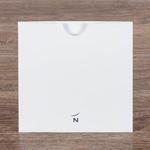Белый лаконичный конверт 160х160