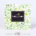 Квадартный конверт 16х16 с текстурой из листочков