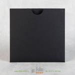 Черные конверты из дизайнерской бумаги 16х16