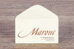 Конверт из бумаги слоновая кость Marouc