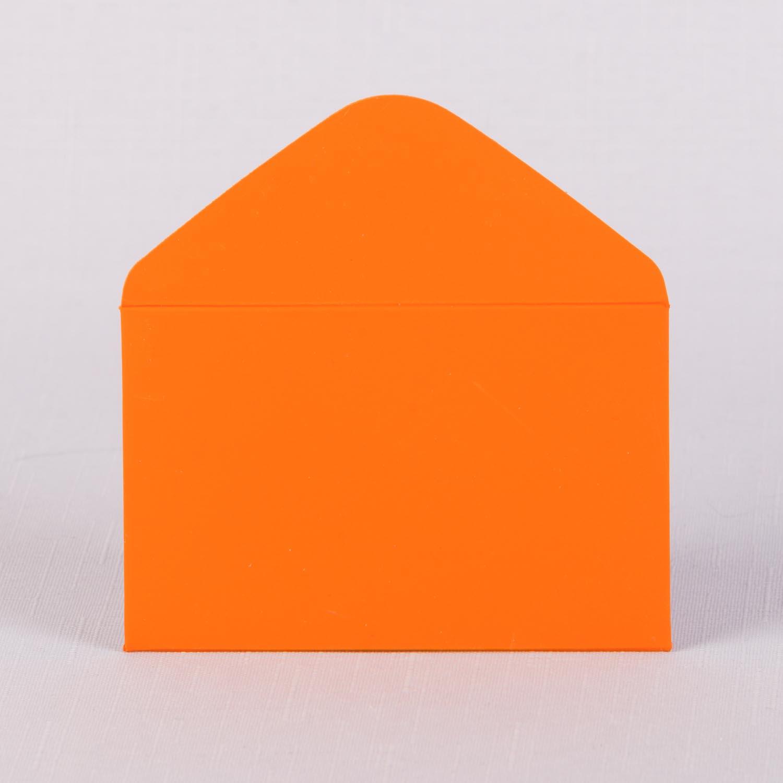 Конверт для визитки на складе оранжевый