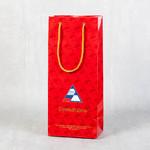 Глянцевый ламинированный пакет для подарочной бутылки