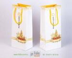 Новогодний пакет для бутылки с крепнкими ручками