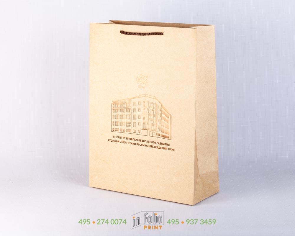 пакеты из крафт картона с бронзовым тиснением фольгой