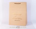 Пакет из плотного крафта с тиснением шоколадной фольгой
