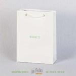 Нежный маленький белый пакетик с глянцевой ламинацией