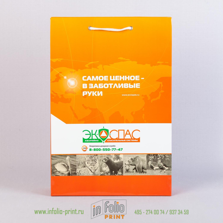 Пакет из мелованной бумаги 200 г/м2 с глянцевой ламинацией