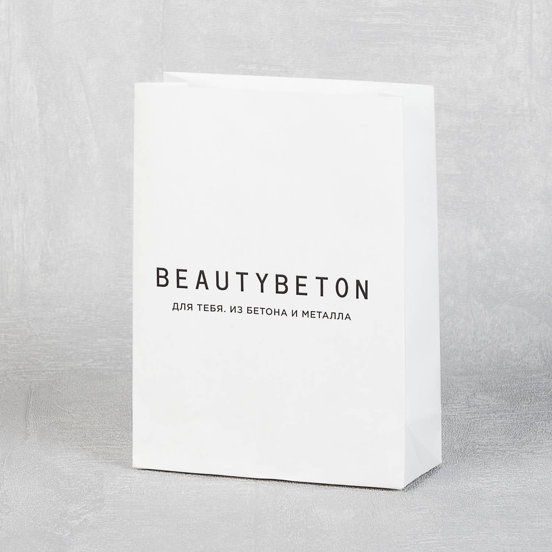 Упаковочный пакетик из белого крафта