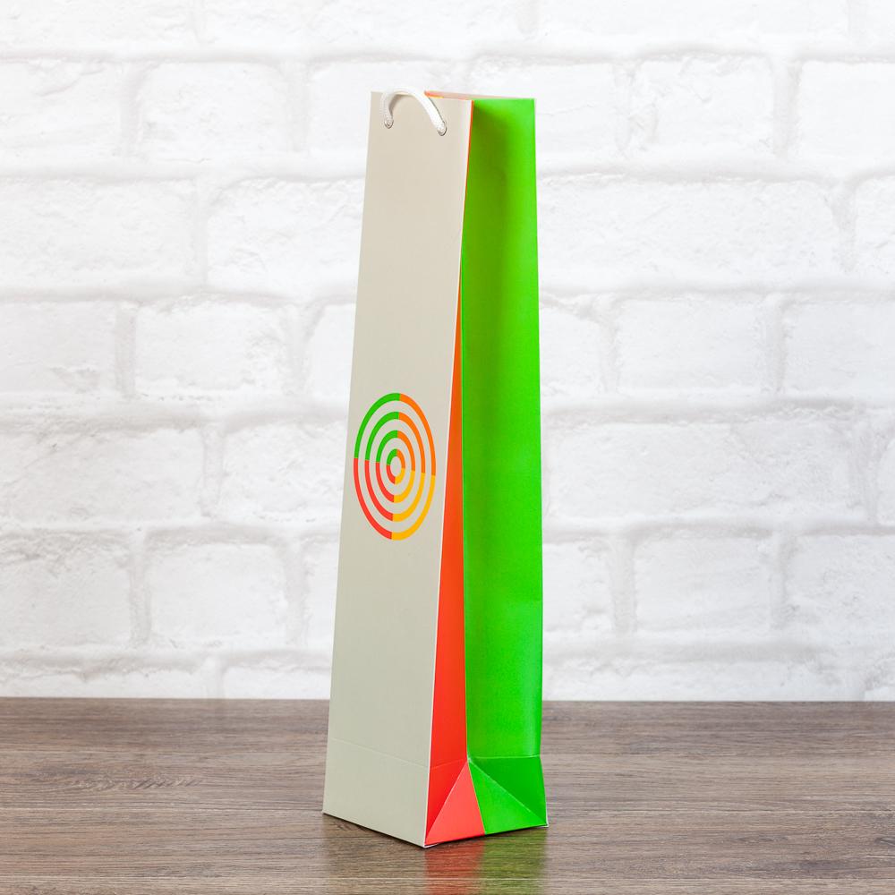 Пакет для бутылки с логотипом компании
