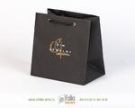 черный пакет 14х14 с золотым тиснением