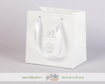 пакет для ювелирных изделий с серебряным тиснением