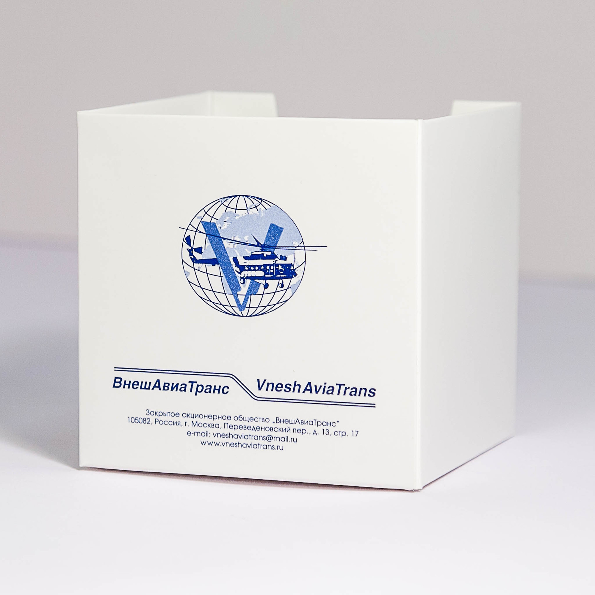 Подставка под кубарик с логотипом и даннми компании