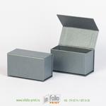 коробка для хранения визитных карточек серебро