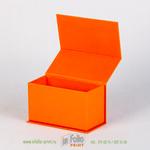 коробка для визиток оранжевая текстура лен
