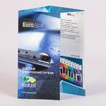 буклет евроформата с глянцевой ламинацией и биговкой для сложения