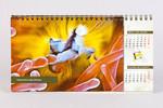 Сдвоенный перекидной календарь евро формата