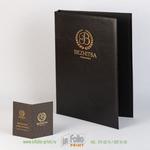 папка для отеля с золотым тиснением