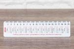 Календарь линейка Абрис 50х210 мм