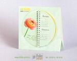 необычнй настольный календарь с полукруглыми листами
