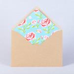 Крафтовый конверт с розами