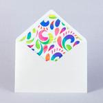 Серебристый конверт для свадьбы