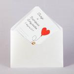 Блестящий свадебный конверт