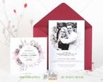 Приглашение на свадьбу с конвертом