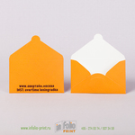 оранжевые коверты для карты, макет подготовлен в графическом редакторе