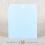 Квадратный конверт 15х15 из голубой бумаги