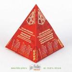 календарик с велюровой ламинацией софттач
