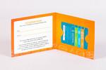 Конверт для подарочной карты с одночторонней глянцевой ламинацией